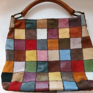 Leather and suede vintage Lucky Brand bag